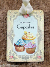 Hang Tags  HOMEMADE CUPCAKES TRIO TAGS or MAGNET #491  Gift Tags