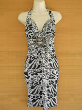 Sexy Halter Summer Dress Party Beach Cruise O Ring Bandeau Black Leopard