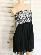 NWT-$69 SEQUIN HEARTS by MY MICHELLE DRESS JR 9/11/13 BLACK LACE STRAPLESS PROM