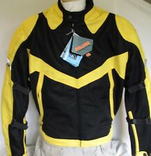 New MESH Black & Yellow 600D Duratex  Armored Motorcycle Jacket New Retail $129
