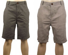River Island Mens Smart Cotton Dress Shorts - Grey Check Or Beige Stripe - 28 30