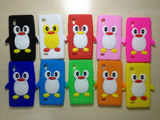 3D Penguin Silicone Soft Cover Case for LG MOTO Blackberry Phone Black Hot Pink