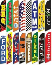 TWO 15 Foot Retail Swooper Flags 1 Pole 1 Spike 1 Spinner Feather Banner Sign