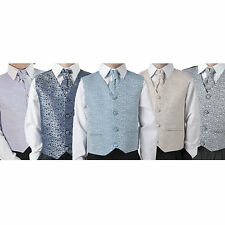 Boys Suit Childrens Kids Baby Pageboy Wedding Formal Smart - Choice of 5 Colours