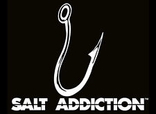 Salt Addiction Decal,Marlin fishing sticker,deep sea fishing,rod,reel,life,hook