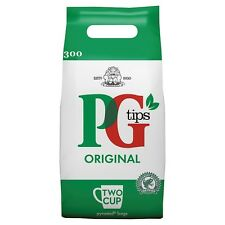 ORIGINAL PG TIPS TEA BAGS - 300 TWO CUP PYRAMID TEA BAGS