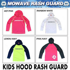 Mowave todler boy girl kids hood rashguard swim wear shirts top 1~15 years old