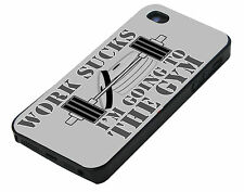 Work Sucks i'm going to the Gym iPhone 4 4S 4G Cover Vintage i Phone Case hard