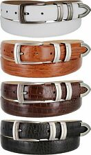 "Gun Italian Calfskin Leather Designer Golf Dress Belts 1-1/8"" Wide"