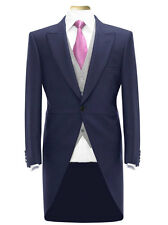MENS BOYS TAIL COAT BLUE TAILCOAT TAILS WEDDING FANCY DRESS PROM MORNING SUIT