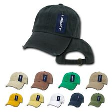 DECKY Vintage Frayed Washed Vintage Worn Look Polo 6 Panel Hats Hat Caps Cap