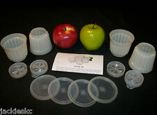 Tupperware 4 vtg Jel-Ette Snack Cup Jello Mold ~CHOICE with/without G Seal #297