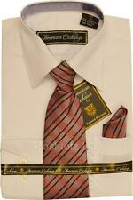 Boys American Exchange White Dress Shirt & Checked Tie Party Prom (age 5 years)
