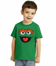Sesame Street Oscar The Grouch Face Toddler T-Shirt New