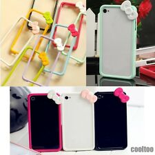Bow Tie Color Plastic Frame bumpers Cover For Apple iPhone 4 4S
