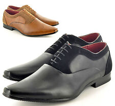 Mens Leather Lined Pointed Winkle Pickers Formal Point Toe Shoes UK Size 7-11