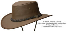 Barmah 1054BR Brown Drover Allover Canvas Hat