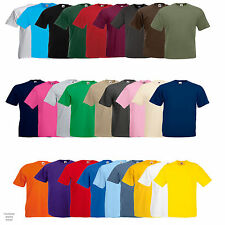 Fruit of The Loom Lightweight Cotton T Shirts - Pack of 5 - Work Casual Leisure