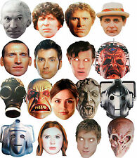 DOCTOR WHO - DR - FUN PARTY FACE MASKS - 15 TO CHOOSE FROM - LICENSED PRODUCT