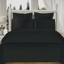 USA 1000TC Complete Soft  Bedding Collection Black Solid 100%Cotton Choose Item