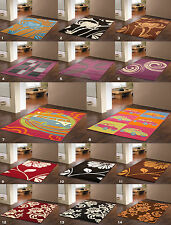 EXTRA LARGE-LARGE-MEDIUM MODERN DESIGN CHEAP SOFT MULTI COLOUR RUGS FLOOR MATS