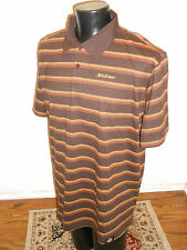 Dickies Men Polo Knit Shirt Brown NEW