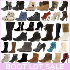 Wholesale Lot Womens Boot Bootie Shoes High Heel Platform Wedge Flat Ankle Knee