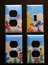 SESAME STREET SCENES LIGHT SWITCH AND KIDS ROOM OUTLET COVERS - FREE SHIPPING!!