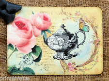 Hang Tags  VINTAGE TEAPOT ROSE POSTCARD TAGS or MAGNET #135  Gift Tags