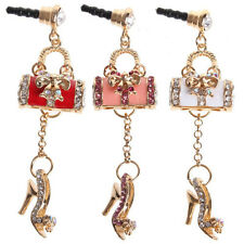 Sexy High Heel and Handbag Earphone Jack / Dust Plug For iphone /all 3.5mm Jack