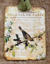Hang Tags  FRENCH PARIS BIRD JOURNAL TAGS or MAGNET #282  Gift Tags