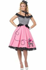 Nifty 50's Poodle Dress Skirt Adult Costume