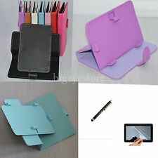 "Colorful Rotary Magic Case+Film+Stylus For 9"" ZTO 9-Inch Android 4.1 Tablet PC"