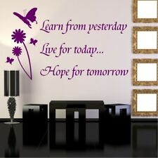 LEARN LIVE HOPE wall quote decal art sticker vinyl home mural living room decor