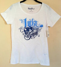 NWT LUCKY BRAND WOMEN'S GRAPHIC GUITAR TEE T-SHIRT Sizes: S Small & M Medium