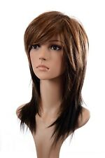 Mid Length Straight Ombre Wigs | TwoTone  Wig | 3 Multi Tonal Shades | Tanya Wig