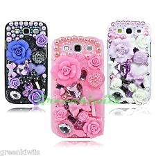 3D Bling Luxury Flowers Fairy-Tale Diamond Case for Samsung Galaxy S3 SIII i9300