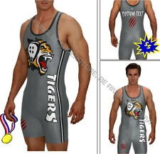 Tiger singlet includes your text, wrestling singlet, powerlifting singlets, MMA