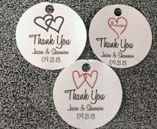 Round Thank You Personalized Wedding Favor Tags Buy 2 Get 1 Free