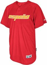 Spain Majestic 2013 World Baseball Classic Authentic Batting Practice Jersey