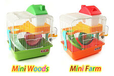 NEW ALEX Small Luxury Double-Layer Hamster Cage With Wheel Bowl Bottle Slides