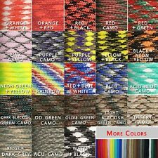 Free Shipping 550 Paracord Parachute Cord Mil Spec Type III 7 Strand Core 100FT