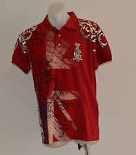Christian Audigier Mens Polos - RED - Sizes S,M & L - NEW