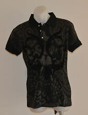 Christian Audigier Mens Polos - BLACK - Sizes S,M,L & XL - NEW