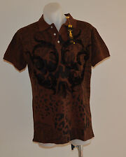 Christian Audigier Mens Polos - BROWN - Sizes S,M,L,XL & XXL- NEW
