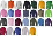 NEW Fruit Of The Loom T-Shirt Tee 5.6 oz Heavy Cotton Men's Long Sleeve B-4930