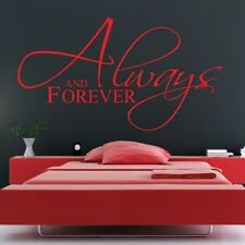 ALWAYS AND FOREVER wall sticker art bedroom quote love word stickers vinyl decal
