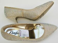 New Candies Rhinestoned High Heels Size 7.5 Color Cajadenude $64.99