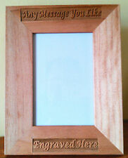 Personalised Wooden Photo Frame Laser Engraved Birthday Wedding Gift Custom