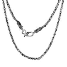 Sterling Silver 3 mm Round Bali BYZANTINE Chain Necklace or Bracelet #ss-ty3